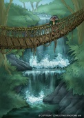 Brink Waterfall Bridge - Conflicting Kingdoms CCG