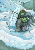 Orc Ice Shield - Conflicting Kingdoms CCG
